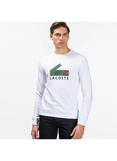 Lacoste Uzun Kollu Sweatshirt Beyaz